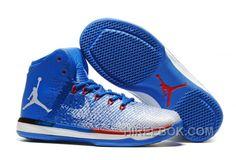 "2017 Air Jordan XXXI ""Olympics"" USA Deep Royal Blue White University Red  Online NBMcQ 545541087"