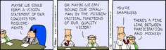 If you can't beat them, mock them - The Dilbert Strip for January 26, 1995