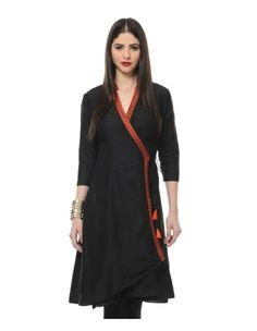 Black Angrakha tunic