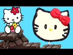 Piruletas de chocolate de Hello Kitty
