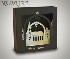 3D SVG Church theme Box card DIGITAL download