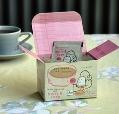 What a cute way to package tea!