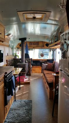 Look at that wood stove! SES Our Bus, Our Home - Page 28 - School Bus Conversion Resources