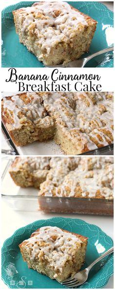 BANANA CINNAMON BREAKFAST CAKE