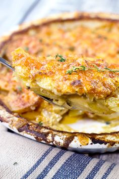 Cajun Scalloped Potatoes #comfortfood #cheesypotatoes