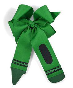 Emerald Crayon Clip #zulily #zulilyfinds