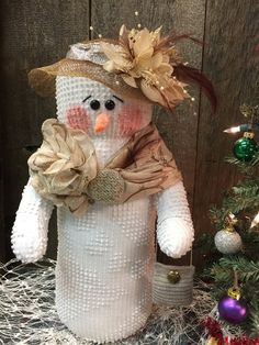 Your place to buy and sell all things handmade Large Christmas Wreath, Christmas Snowman, Christmas Home, Christmas Holidays, Christmas Crafts, Christmas Ideas, Sock Snowman, Crochet Snowman, Snowman Decorations