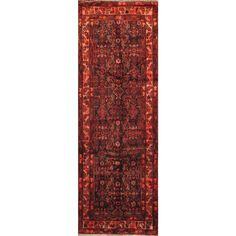 ecarpetgallery Hand-knotted Malayer and Red Wool Rug