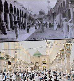 Old photos of Masjide Nabawi. Al Masjid An Nabawi, Masjid Al Haram, Islamic Pictures, Old Pictures, Old Photos, Arabian Art, Mekkah, Beautiful Mosques, Islamic Wallpaper