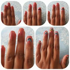 Mani Monday:: Thanksgiving Nails Pocahontas nails tribal nails cute nails indian native nails
