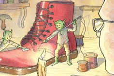 The Elves and The Shoemaker by The Brothers Grimm: Story 2 Brothers Grimm Stories, The Elf, Elves, Creatures, Christmas, Art, Xmas, Art Background, Kunst