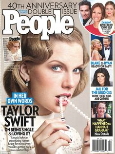 Single and independent: Taylor Swift admitted that she's not dating anyone and doesn't plan to for a while in People's 40th anniversary issue for which she recreated Mia Farrow from 1974's The Great Gatsby