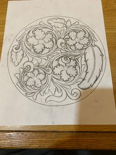 Leather Tooling Patterns, Leather Pattern, Craft Patterns, Flower Patterns, Leather Carving, Leather Crafts, Illuminated Manuscript, Art Sketches, Craftsman