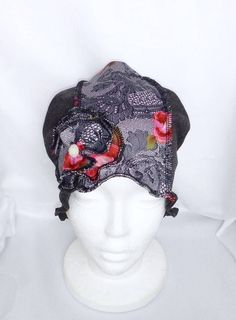 Joli chapeau souple gris, chimio, bonnet cancer, couvre tête, chapeau tout usage, perte de cheveux, béret alopécie, fait à la main. by BleuKaktusHats on Etsy