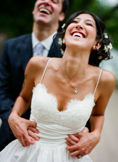 """Happy as can be... Another beautiful wedding featuring our """"Coco"""" dress"""