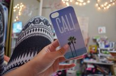 """California Palm Tree Case by Good Vibe Cases. This case comes in white plastic. If you would like this design in rubber, check out our rubber case listing for the iPhone 4/4S and 5/5S under the tab """"SHOP ALL"""". Our rubber cases ($16) are only $1 more than plastic cases, and they offer even more pr..."""