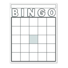 Free Bingo Card Template Blank Bingo Cards White Board & Card Games Line Free Bingo Cards, Bingo Card Template, Blank Bingo Cards, Board Game Template, Card Templates Printable, Bingo Board, Printables, Game Boards, Welcome Card