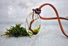 Collier eco fleurs terrarium collier moss résine par VyTvir