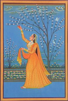 Ragini Vasanti (The Joy of Spring) - Miniature Painting from Rajasthan
