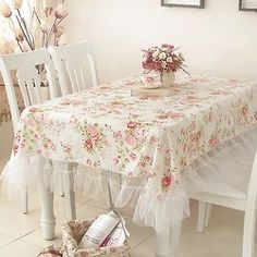 sweet tablecloth with tulle border