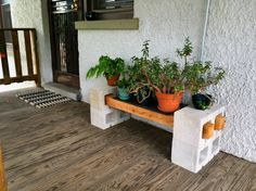DIY Cinder Block Plant Stand In case you really are seeking for excellent ideas about wood working, then http://www.woodesigner.net can help out!                                                                                                                                                     More