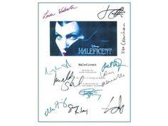 Maleficent Movie Script Signed Screenplay Autographed: Angelina Jolie, Elle Fanning, Sharlto Copley, Juno Temple, Robert Stromberg