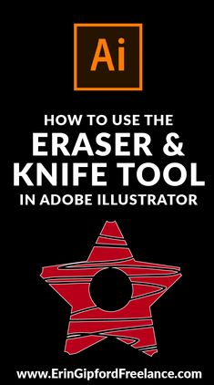 In this Adobe Illustrator tutorial I am going to show you how easy it is to use the Eraser and Knife tool in Adobe Illustrator! You can easily erase parts of your vector object. Or you can use the knife tool and slice your vector shape into separate pie Web Design, Flat Design, Graphic Design Tutorials, Graphic Design Inspiration, Design Trends, Vector Design, Style Inspiration, Adobe Illustrator Tutorials, Photoshop Illustrator