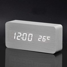 Upgrade LED Alarm Clock,despertador Temperature Sounds Control LED display,electronic desktop Digital table clocks