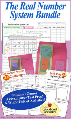 Engage your students with this 65 PAGE Ultimate Real Number System Bundle for graders learning about the Number System! ★ ★ ★ Numerous activities, colorful resources, and more are included to teach and reinforce the Real Number System. School Resources, Teaching Resources, Teaching Ideas, Cooperative Learning, Student Learning, 9th Grade Math, Eighth Grade, Real Number System, Fun Math