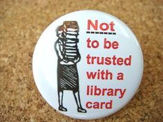 Hahahaha. So me. Did you know that the limit on library cards is fifty books? When I found out, I had to put some back. But that way, it only took two trips out to the car to take everything with me.
