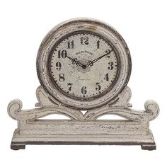 Harland Table Clock ($43) ❤ liked on Polyvore featuring home, home decor, clocks, battery powered clock, battery clock, home decorators collection and battery operated clocks