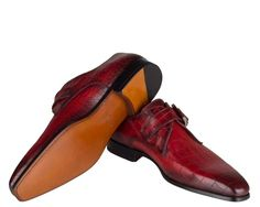 Magnanni red monk strap slip-on shoes by magnanni