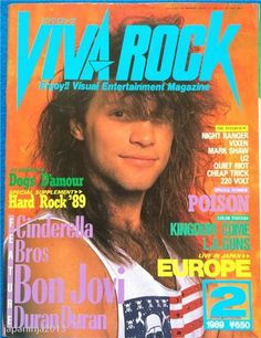 VIVA ROCK Japan Music Magazine 2/1989 Bon Jovi Cinderella Bros Duran Poison