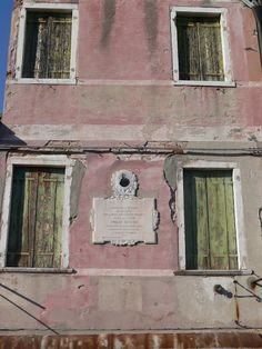 In Burano, marvelous old house.  © Copyright Yves Philippe