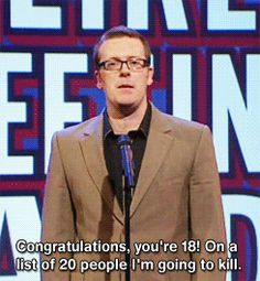 Mock The Week: Unlikely Greetings Cards British Humor, British Comedy, 8 Out Of 10 Cats, Frankie Boyle, Mock The Week, Boring Day, British Things, Comedy Show, Funny Posts