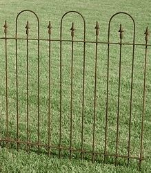 3 Foot Wrought Iron Fence made like they did 100 years ago. Wrought Iron Fence Panels built in middle Illinois by bending solid metal rods and welding Wrought Iron Fence Panels, Rod Iron Fences, Steel Fence Panels, Iron Gates, Metal Garden Fencing, Metal Fence, Garden Gates, Fence Sections, Gothic Garden