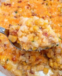 I love this cheesy corn casserole because it's a quick comfort food that is super easy to make. It's the perfect side dish for the holidays or to bring along to a potluck. Even better