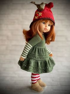 Crochet Doll Clothes, Knitted Dolls, Doll Costume, Costumes, Crochet Top, Crochet Hats, Clothes Crafts, Knit Fashion, Doll Patterns