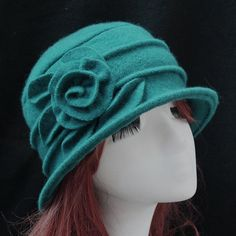 7ccdd04565473 women dome fedora 100% wool hat mom hats for autumn and winter solid floral  warm