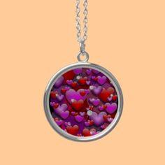 Hearts Love and Diamonds Pendants