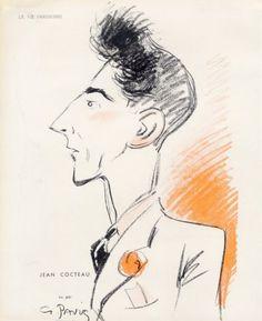 Georges Pavis (1886 – 1977).  Jean Cocteau, La Vie Parisienne, 1938. [Pinned 20-i-2015]