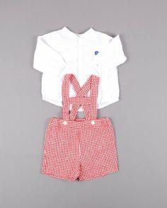 Conjunto pantalón tirantes y camisa en color Blanco marca Karpi http://www.quiquilo.es/catalogo-ropa-segunda-mano/conjunto-pantalon-tirantes-y-camisa-ml-en-color-blanco-marca-karpi.html