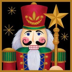 Nutcracker and the Star of Christmas Nutcracker Christmas, Noel Christmas, Christmas Pictures, Vintage Christmas, Christmas Crafts, Christmas Decorations, Christmas Ornaments, Xmas, Christmas Artwork