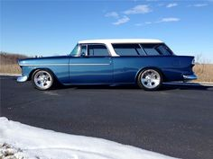 Making It Easy To Save Big On Auto Insurance Packages 1955 Chevrolet, Chevrolet Bel Air, Chevy Classic, Classic Cars, Chevy Nomad, Barrett Jackson Auction, Vintage Cars, Vintage Paper, Reborn Dolls