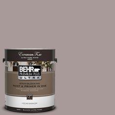 BEHR Premium Plus Ultra 1-Gal. #UL250-8 Smoked Mauve Flat Exterior Paint