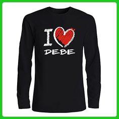 Idakoos - I love Debe chalk style - Cities - Long Sleeve T-Shirt - Cities countries flags shirts (*Amazon Partner-Link)