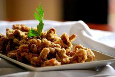 Camagrocs en tempura Tempura, Spanish Food, Chicken, Meat, Appetizers, Spanish Dishes, Cubs, Kai
