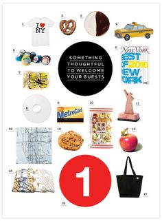 nyc welcome bag for out of town wedding guests via 100 layer cake & guest blogger indigo bunting, #welcomebag, #goodidea