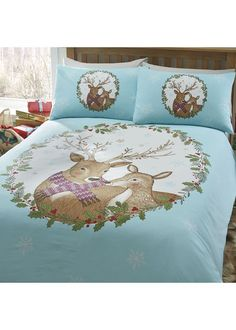 Mr and Mrs Stag King Size Bedding