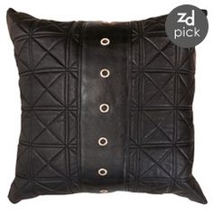Bandhini Home Saddle Leather Black Throw Pillow